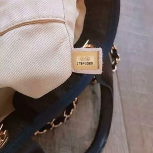 CHANEL Bags - Authentic CHANEL Deauville Tote Denim Navy